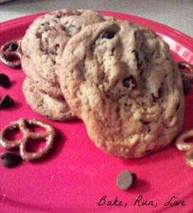 P.B. Chocolate Chip Pretzel Cookies