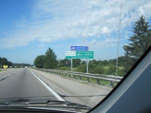 Leaving Ohio, entering Indiana