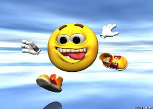 smiley_running_Wallpaper_c0v9o
