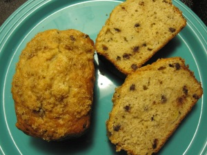 Banana, Peanut Butter, and Chocolate Chip Bread/ Bake, Run, Live