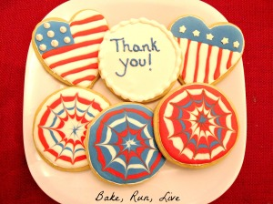 001 Red, White, and Blue Cookies