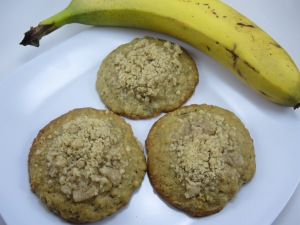 008 Banana Bread Cookies with Streusel Topping/ Bake, Run, Live