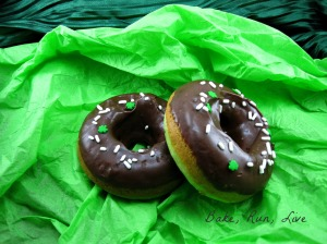 Mint Chocolate Chip Doughnuts