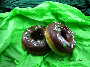 Mint Chocolate Chip Doughnuts